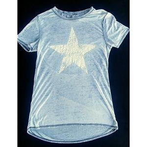 Modern Lux Distressed Military Army Star Shirt